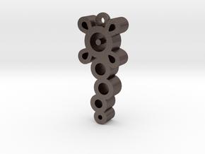 Unova Pendant [Poison] in Polished Bronzed Silver Steel