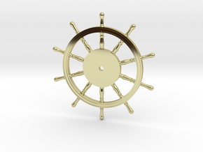1:40 Ships-Wheel HMS Victory in 18k Gold Plated Brass