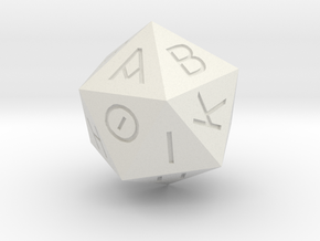 D20 Greek in White Natural Versatile Plastic