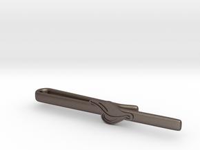 Duck's Bill Tie Clip in Polished Bronzed Silver Steel
