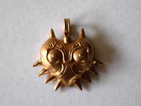 LoZ: Majora's Mask - Majora's Mask Charm in Natural Bronze