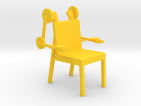 MECH CHAIR by RJW Elsinga 1:10 in Yellow Processed Versatile Plastic