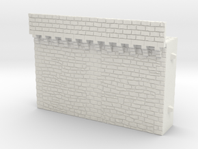 NF2 Modular fortified wall in White Natural Versatile Plastic