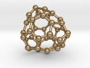 0143 Fullerene C40-31 cs in Polished Gold Steel