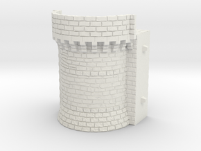 NF6 Modular fortified wall in White Natural Versatile Plastic