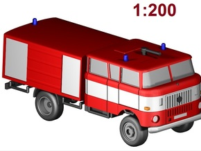 W50 Feuerwehr / Fire truck 4WD (1:200) in Frosted Ultra Detail