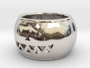 Pumpkin Ring in Rhodium Plated Brass