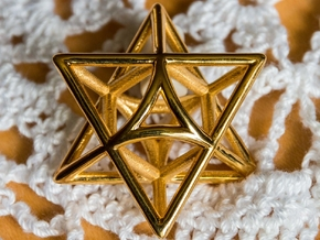 Star Pendant #3 in Polished Brass
