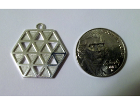 Triforce Star Of David Pendant in Polished Silver