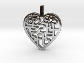 SFLS Class Pendant in Polished Silver