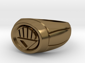 Black Lantern Ring in Polished Bronze