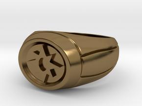 Violet Lantern Ring in Polished Bronze