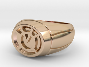 Orange Lantern Ring in 14k Rose Gold Plated Brass