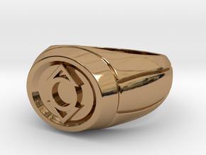 Indigo Lantern Ring in Polished Brass