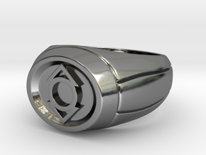 Indigo Lantern Ring in Fine Detail Polished Silver
