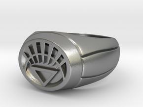 White Lantern Ring in Natural Silver