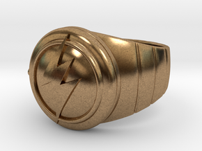 Barry Allen's Flash Ring in Natural Brass