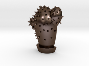 Cactus Pendant   Shut Up Cláudia! in Polished Bronze Steel