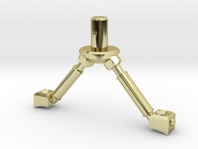 3d Strut Shuttle 3-3 in 18k Gold