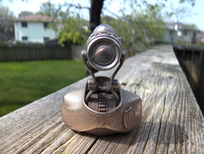 Robot Binary Detective 01 in Polished Bronzed Silver Steel