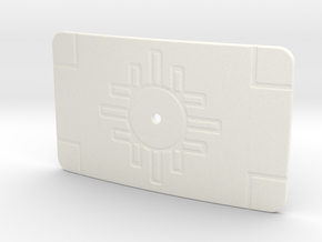 Belt Buckle Cover Imperial crew AT-ST alternate in White Processed Versatile Plastic
