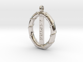 CLASSIC WIRE PENDANT in Rhodium Plated Brass