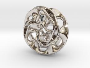 Scherk Pendant in Rhodium Plated Brass