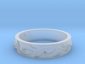 AB053 Floral Band in Smoothest Fine Detail Plastic