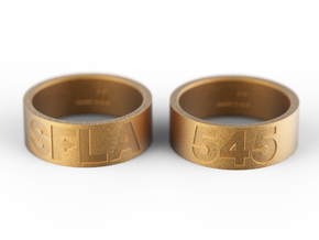 SFLA / 545 (size 8) in Polished Gold Steel