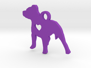 Pittie Love Pendant in Purple Strong & Flexible Polished