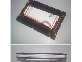 Miniwallet in Black Strong & Flexible