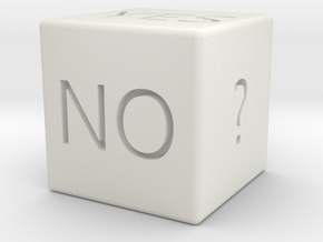 Yes or No Dice in White Natural Versatile Plastic