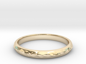 wave ring(size = USA 5.5) in 14k Gold Plated Brass