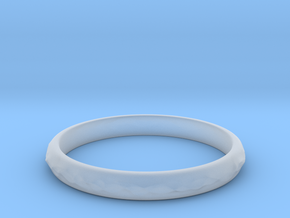 wave ring(size = USA 5.5) in Smoothest Fine Detail Plastic
