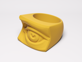 David's Eye Ring Hollow in Yellow Processed Versatile Plastic