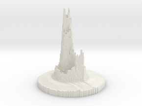 Abstract Castle in White Natural Versatile Plastic