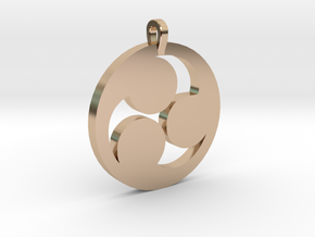 Tomoe Pendant in 14k Rose Gold Plated Brass
