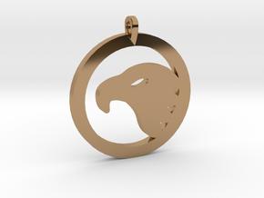 Eagle Eye Pendant in Polished Brass