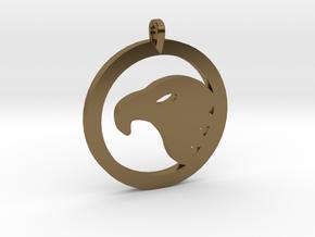 Eagle Eye Pendant in Polished Bronze