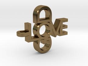 Love God Pendant in Polished Bronze