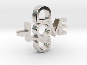 Love God Pendant in Rhodium Plated Brass