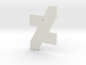 DA Logo 2 Normal CH3 in White Natural Versatile Plastic