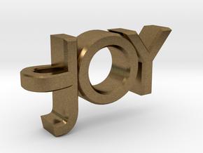 Joy Pendant in Natural Bronze