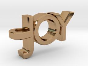 Joy Pendant in Polished Brass