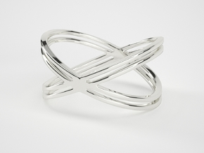 The X Ring in Natural Silver: 7 / 54