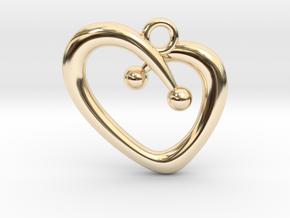 Stylish Heart in 14K Yellow Gold