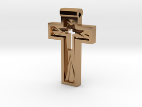 Cross in Polished Brass