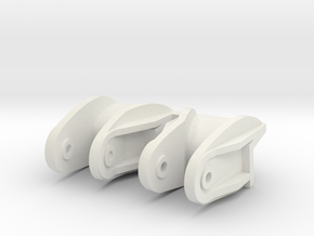 Towing hooks for early Panzer III and Variants in  in White Natural Versatile Plastic