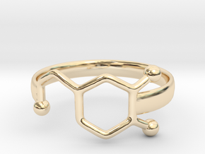 Dopamine Ring Size 6  in 14k Gold Plated Brass