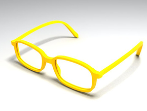 unisex glasses - type 2 in White Natural Versatile Plastic